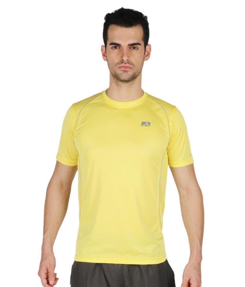 Vector X Yellow Polyster T-Shirt