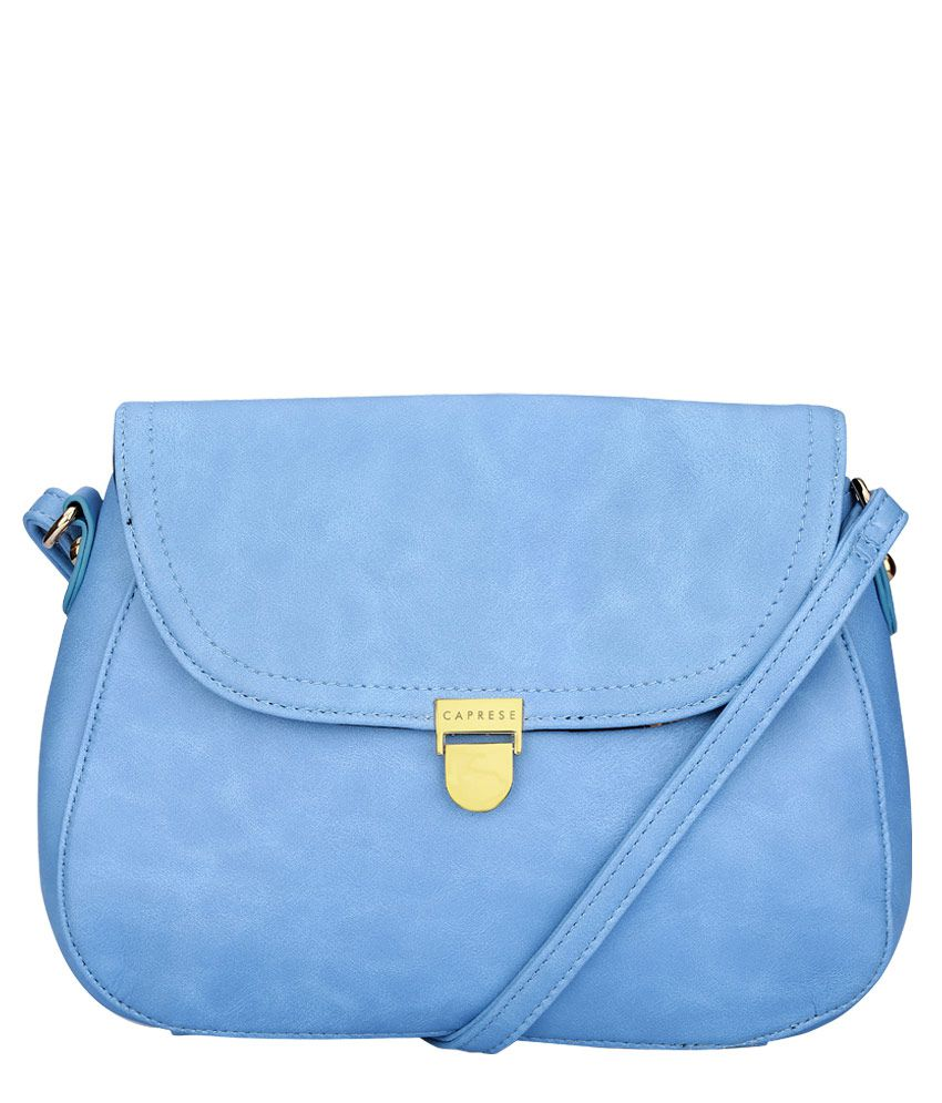 96dbc4a04 Caprese Blue Sling Bag - Buy Caprese Blue Sling Bag Online at Best Prices  in India on Snapdeal