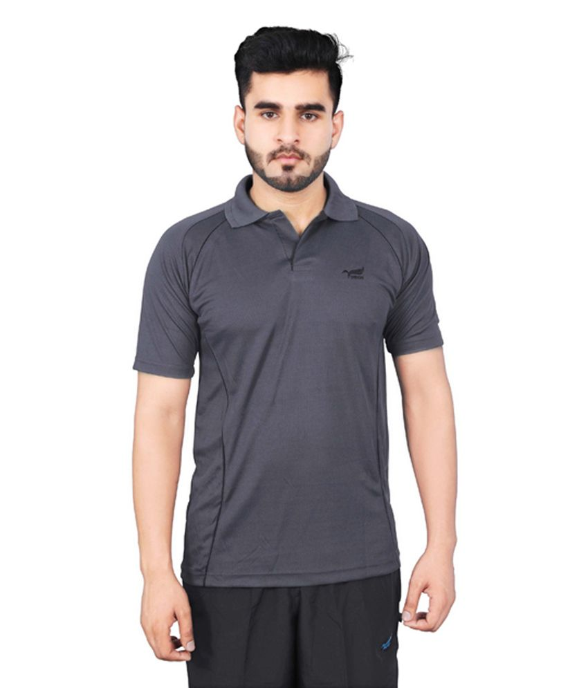 NNN Dark Grey Half Sleeves Dry Fit Men's T-shirt