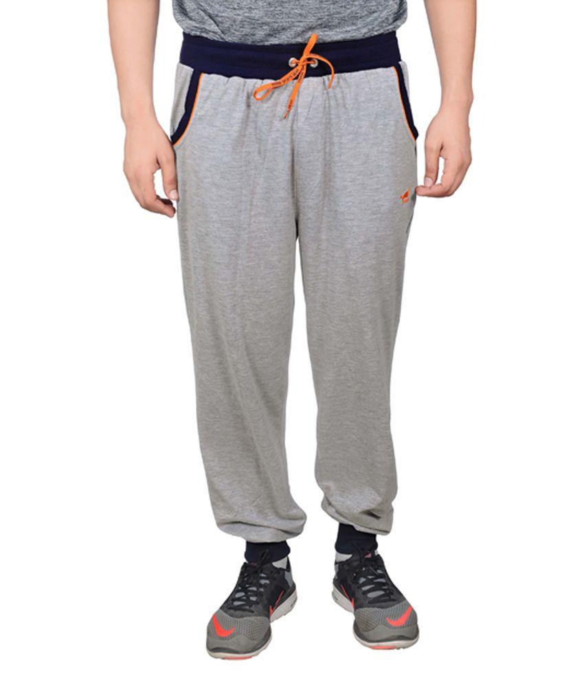 NNN Grey Cotton Sports Men's Full Track Pant