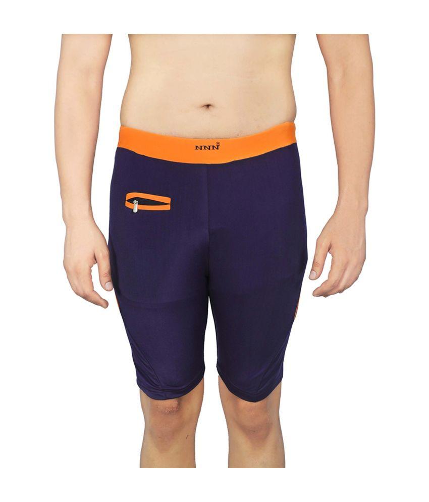 NNN Purple Knee Length Men's Swimming Trunk/ Swimming Costume
