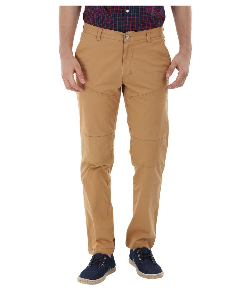 Zobello Brown Slim Flat Trouser