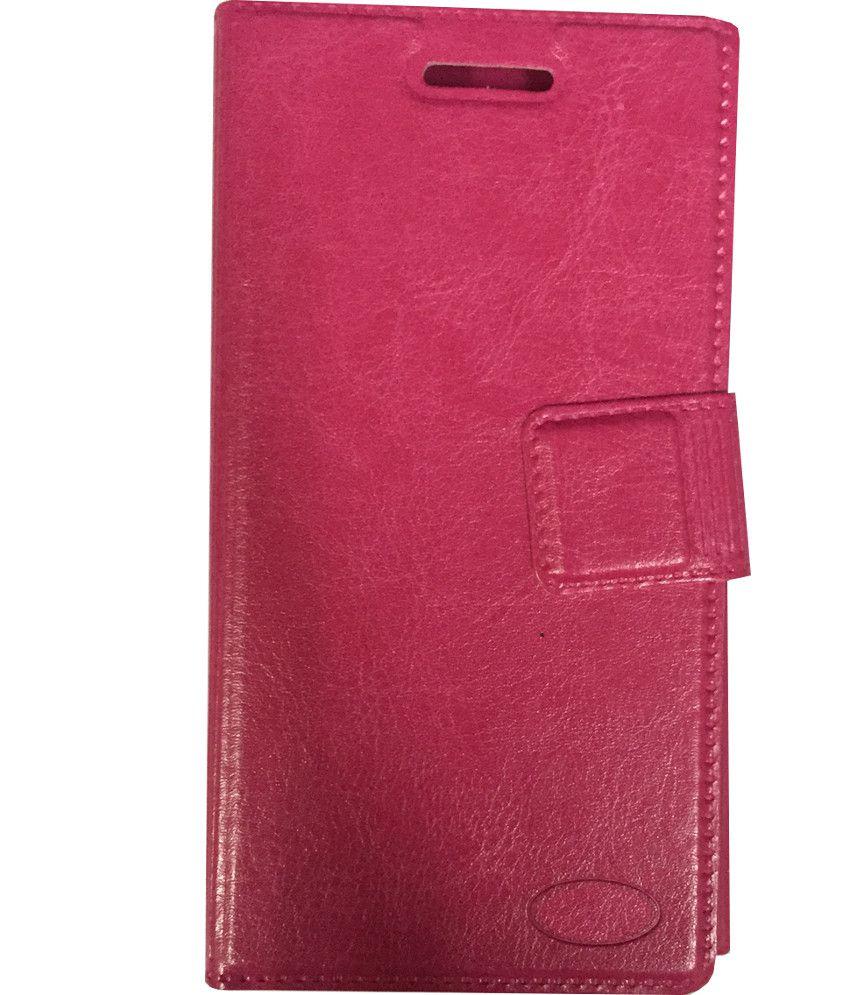 san francisco bfea4 887b5 Gionee Pioneer P5L Flip Cover by Zocardo - Pink