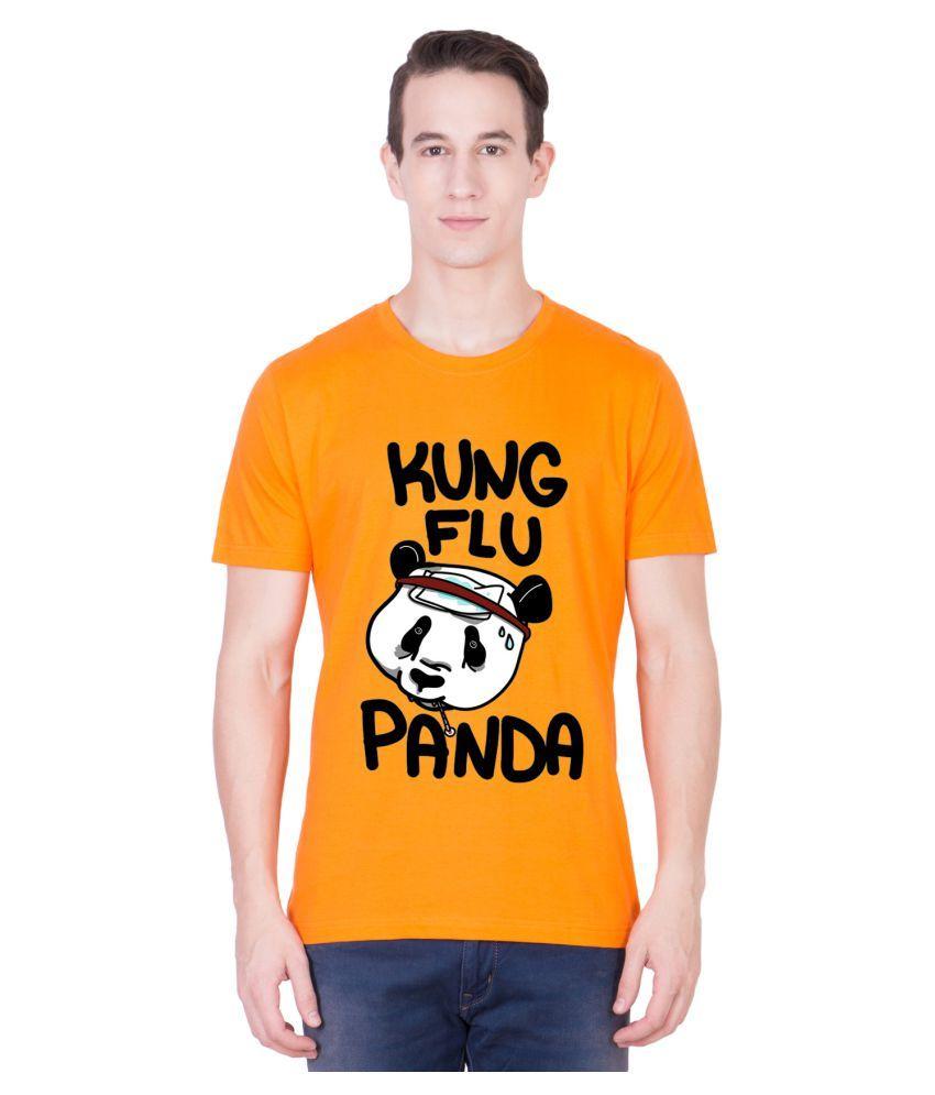Andshand Orange Round T-Shirt