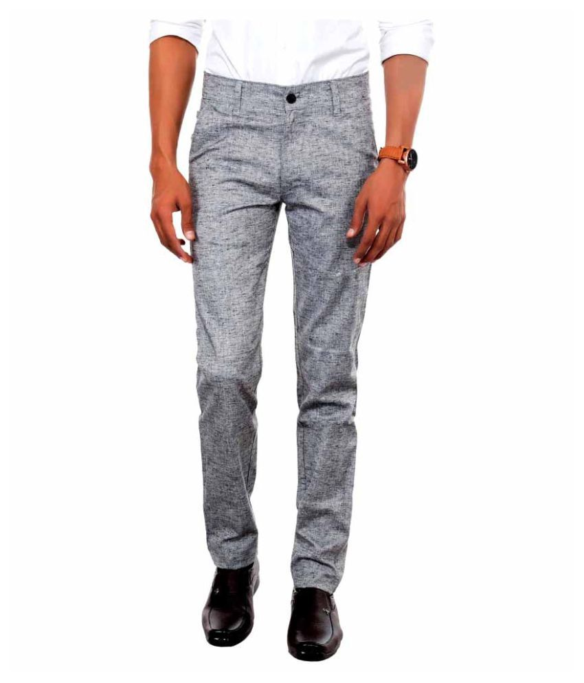 Killox Grey Regular Flat Trouser
