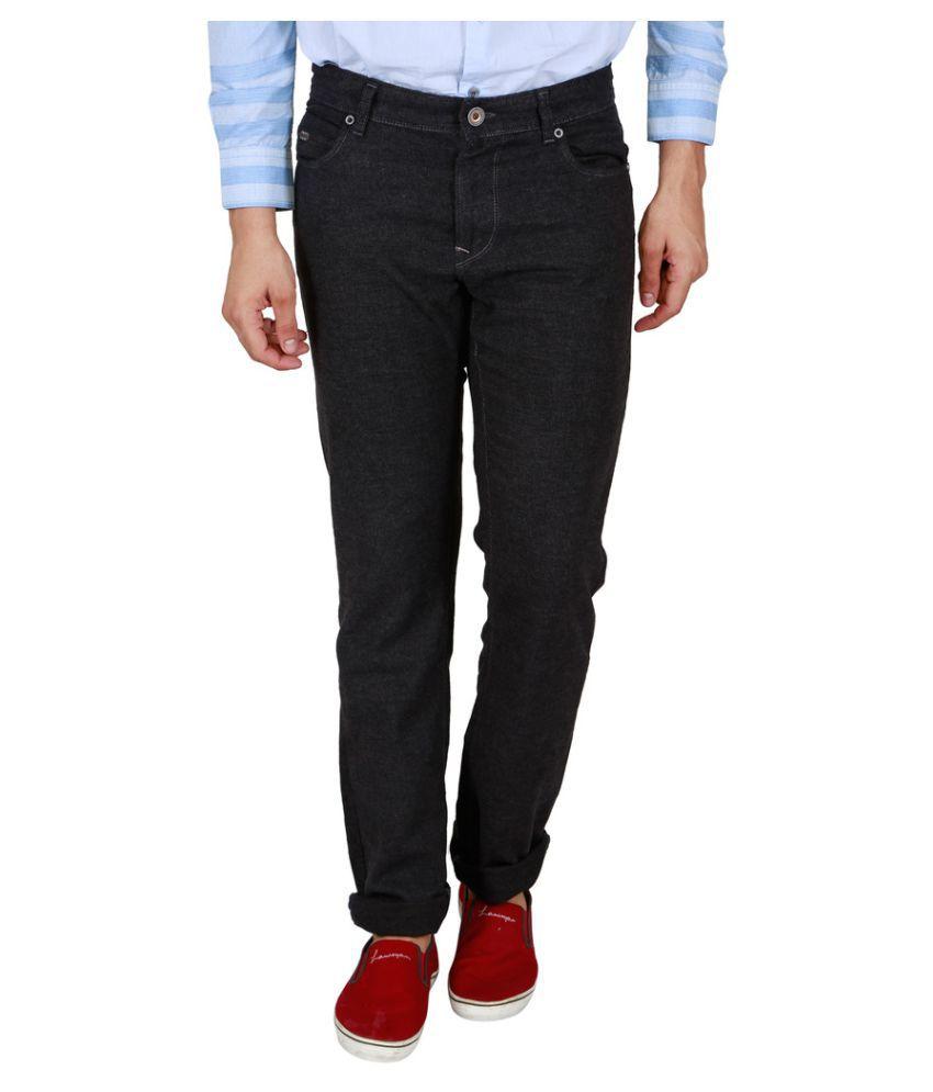 Lawman Pg3 Black Regular Flat Trouser
