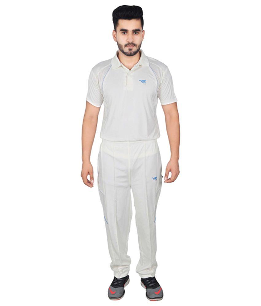 NNN White Dry Fit Cricket Men's Track Suit