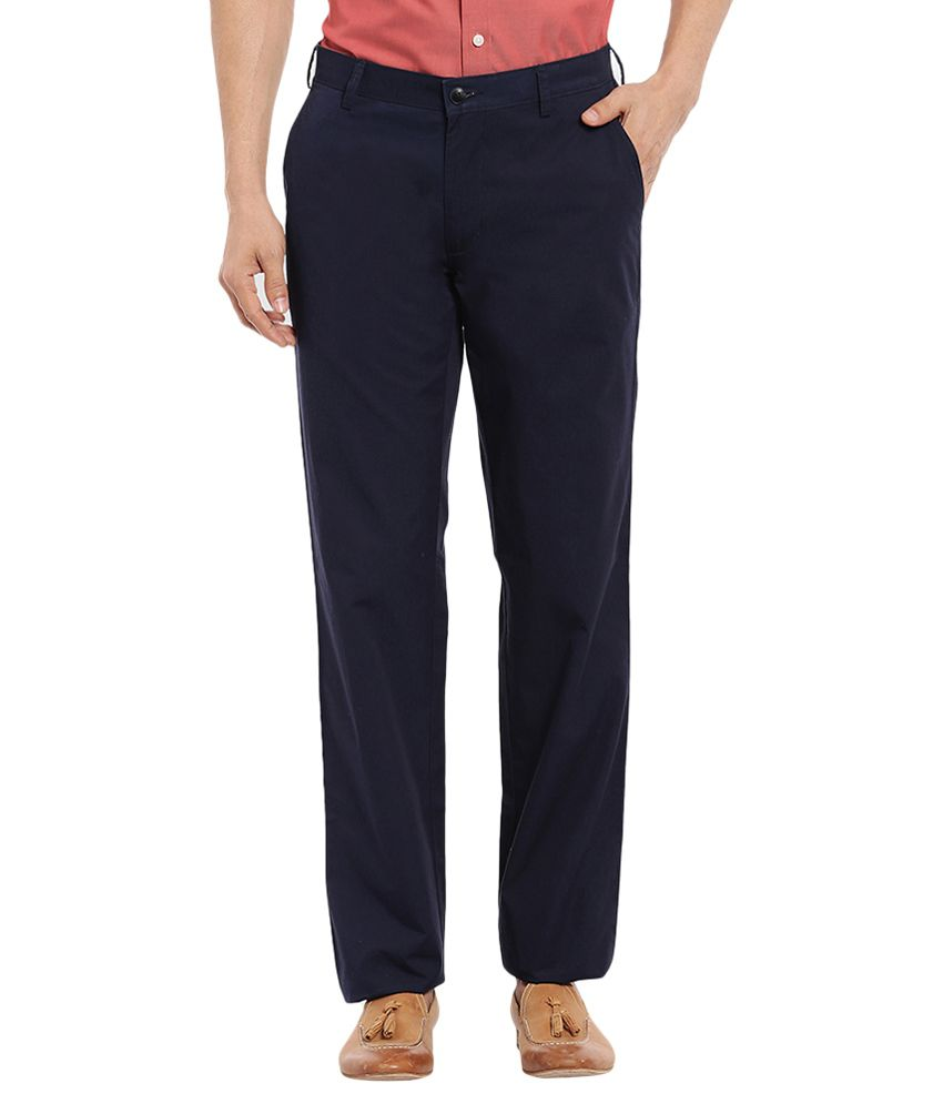 ColorPlus Blue Slim Flat Trouser