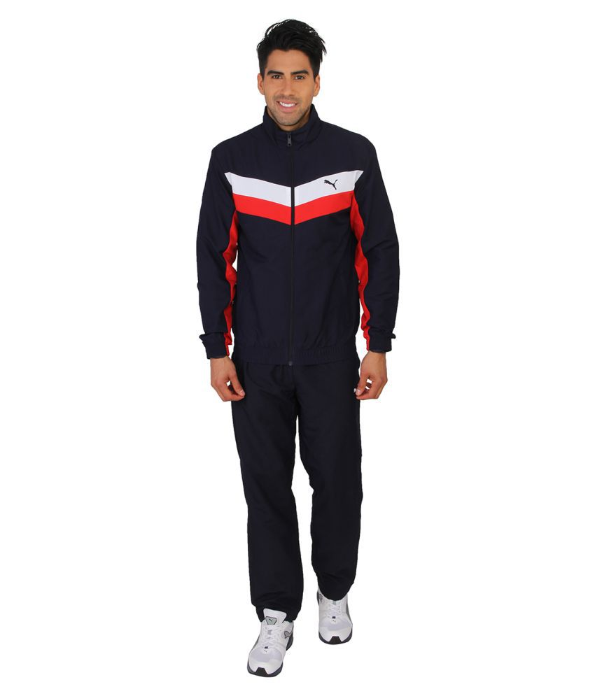 Puma Navy Polyster Tracksuit