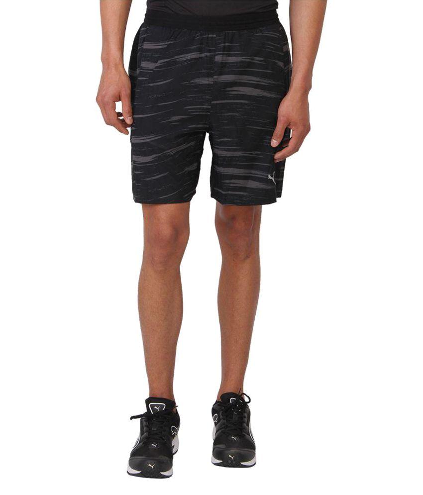 Puma Black Cotton Shorts
