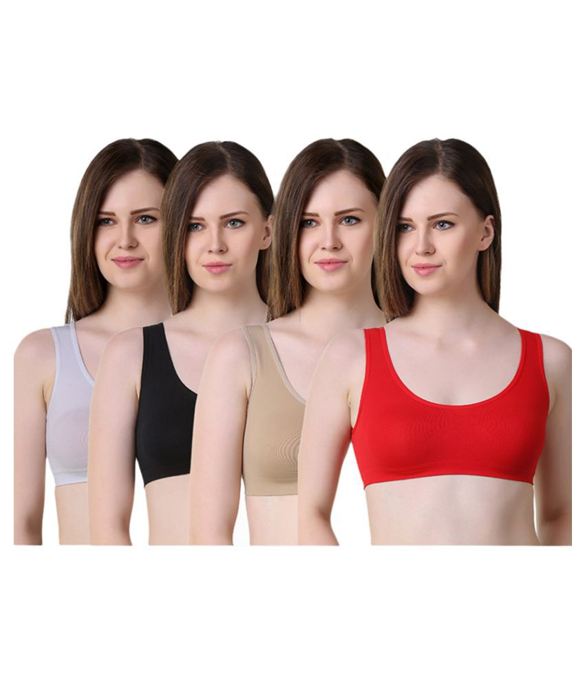 Anixa Multi Color Cotton Teenage Bra