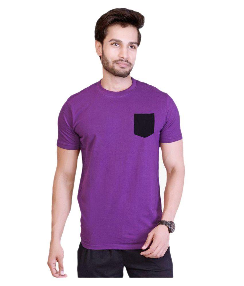 LUCfashion Purple Round T-Shirt