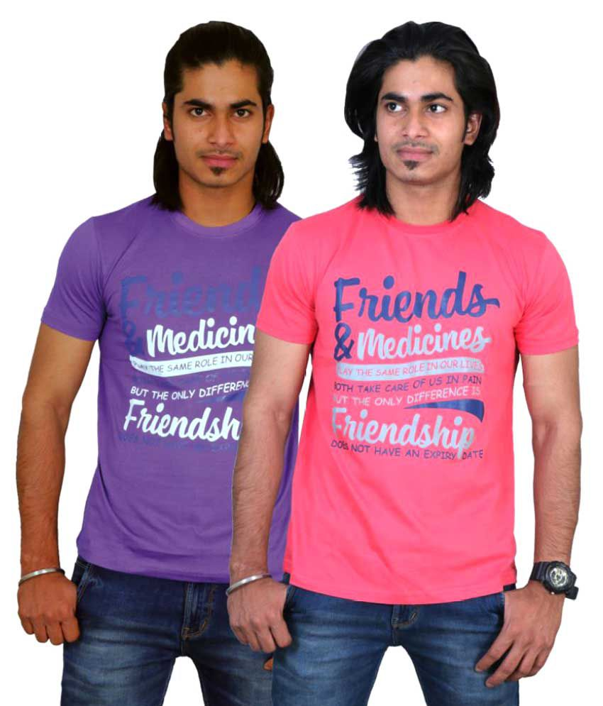 Maximblue Multi Round T-Shirt Pack of 2