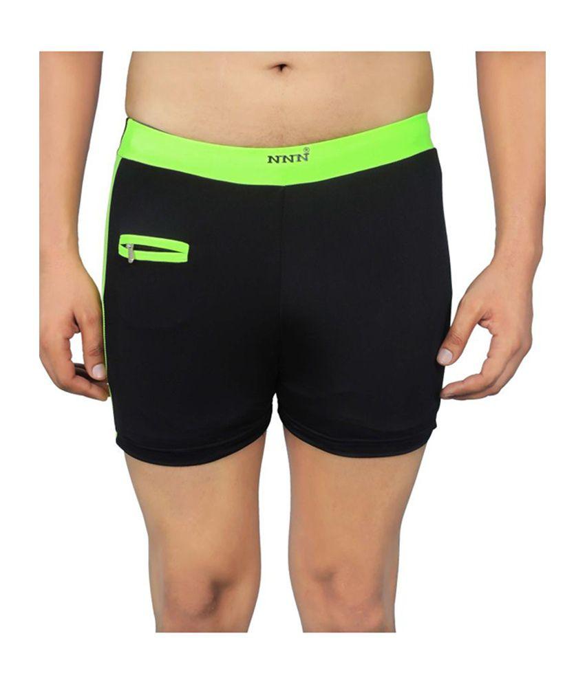 NNN Black Short Length Lycra Men's Swimming Trunk/ Swimming Costume