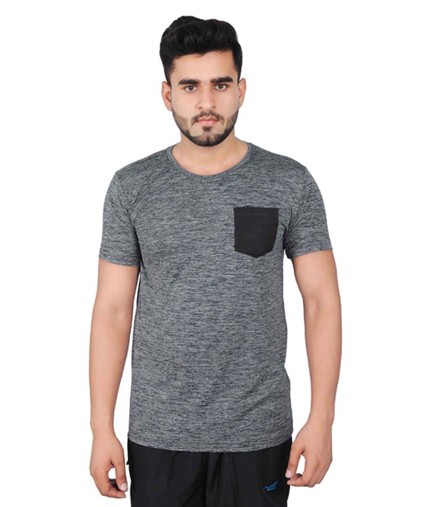 NNN Grey Half Sleeves Dry Fit Men's T-shirt