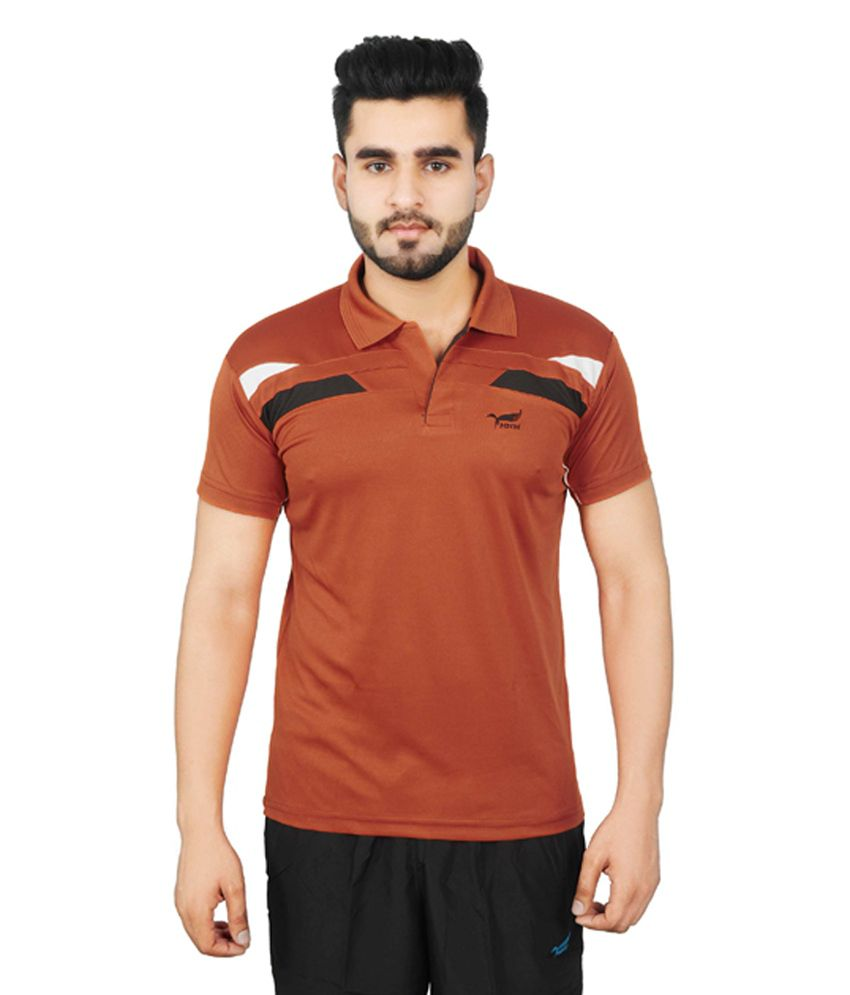 NNN Orange Copper Half Sleeves Dry Fit Men's T-shirt