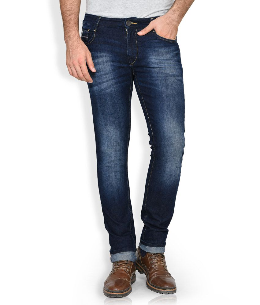 John Players Blue Low Rise Skinny Fit Jeans