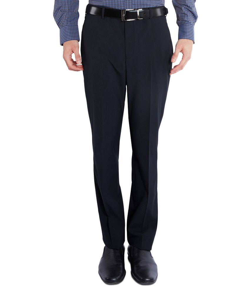 Park Avenue Blue Slim Fit Trousers
