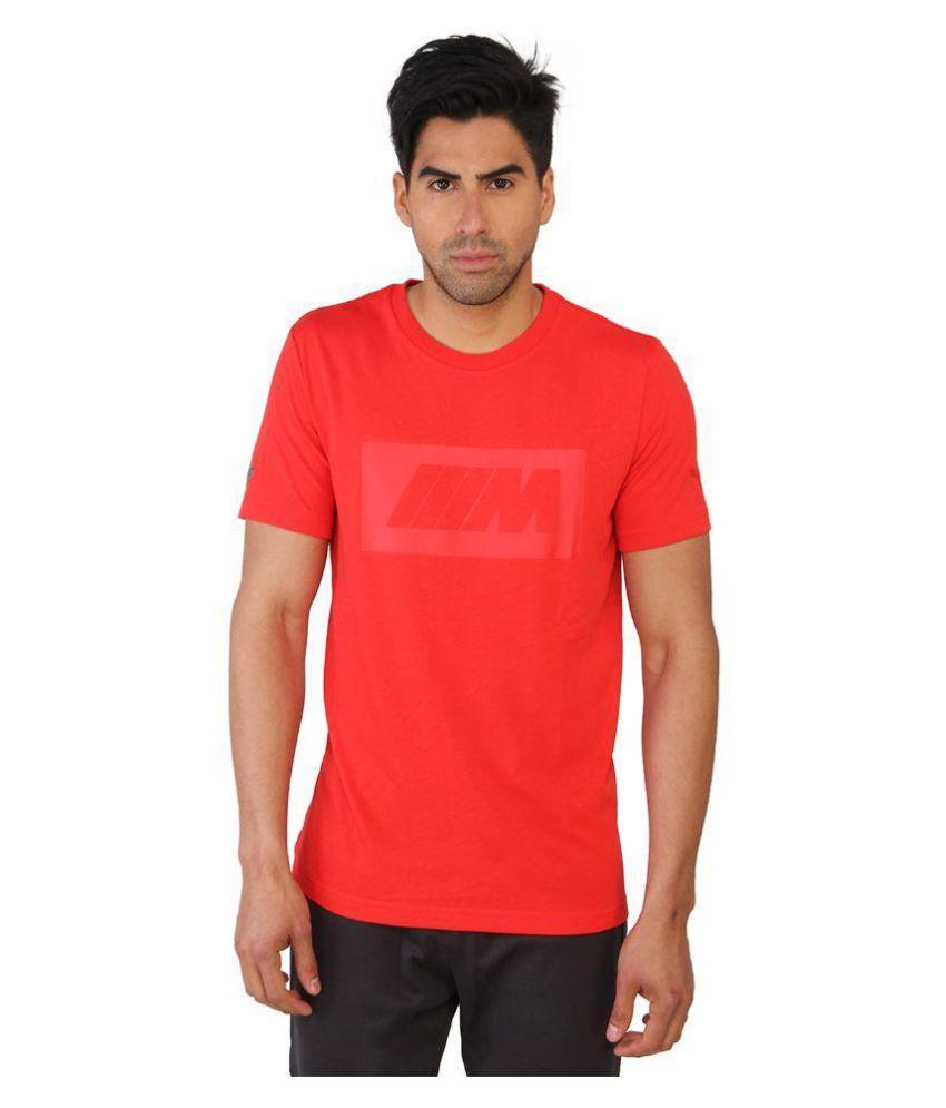 Puma Red Cotton T-Shirt