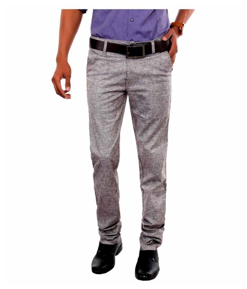Killox Grey Slim Flat Trouser