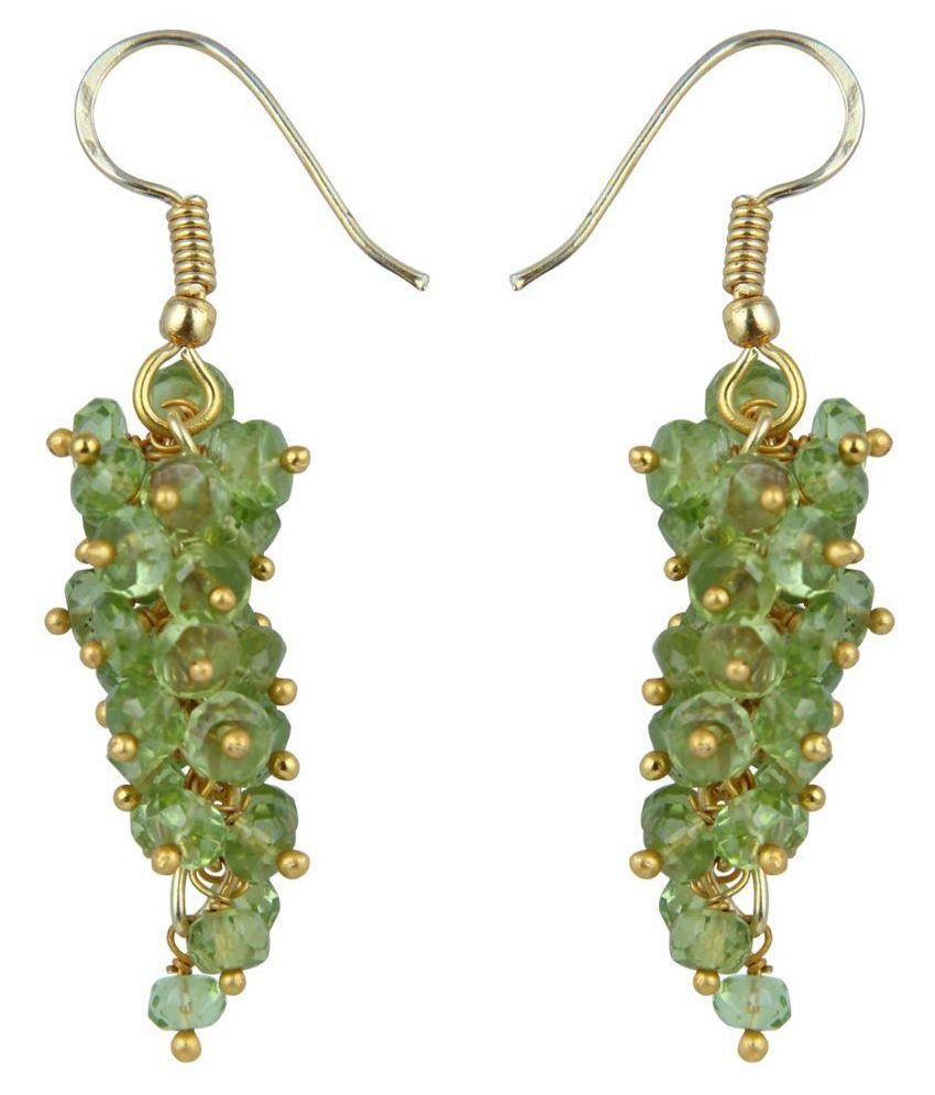 Pearlz Ocean Green Alloy Hanging Earring