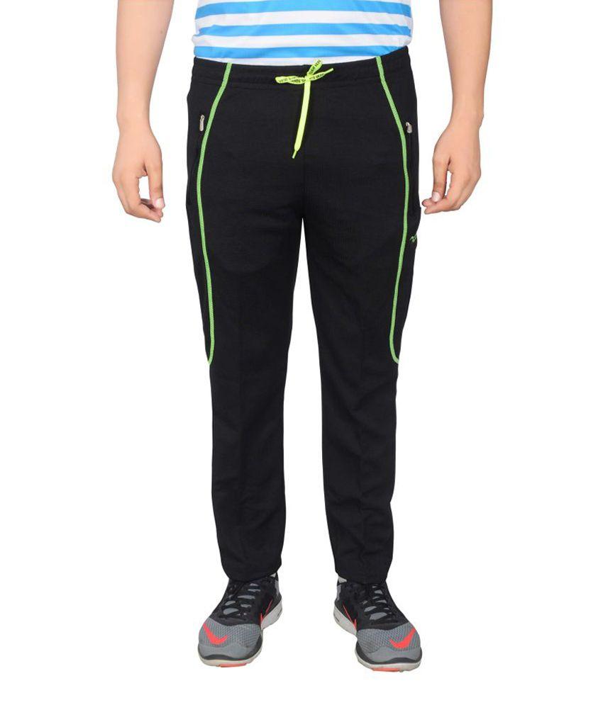 NNN Black Full Length Dry Fit Men's Track Pant