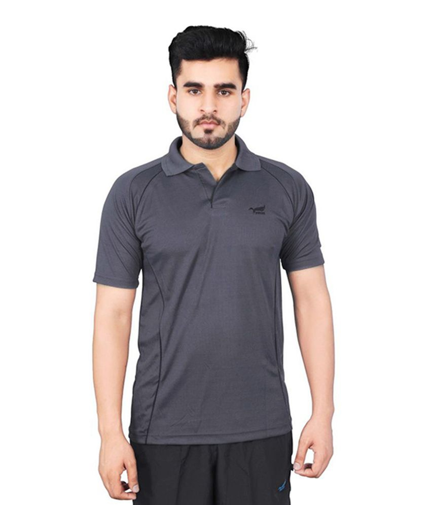 NNN Dark Grey Half Sleeves Dry Fit Men's T-shirt