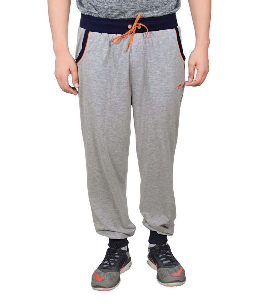 NNN Grey Cotton Sports Full Men's Track Pant