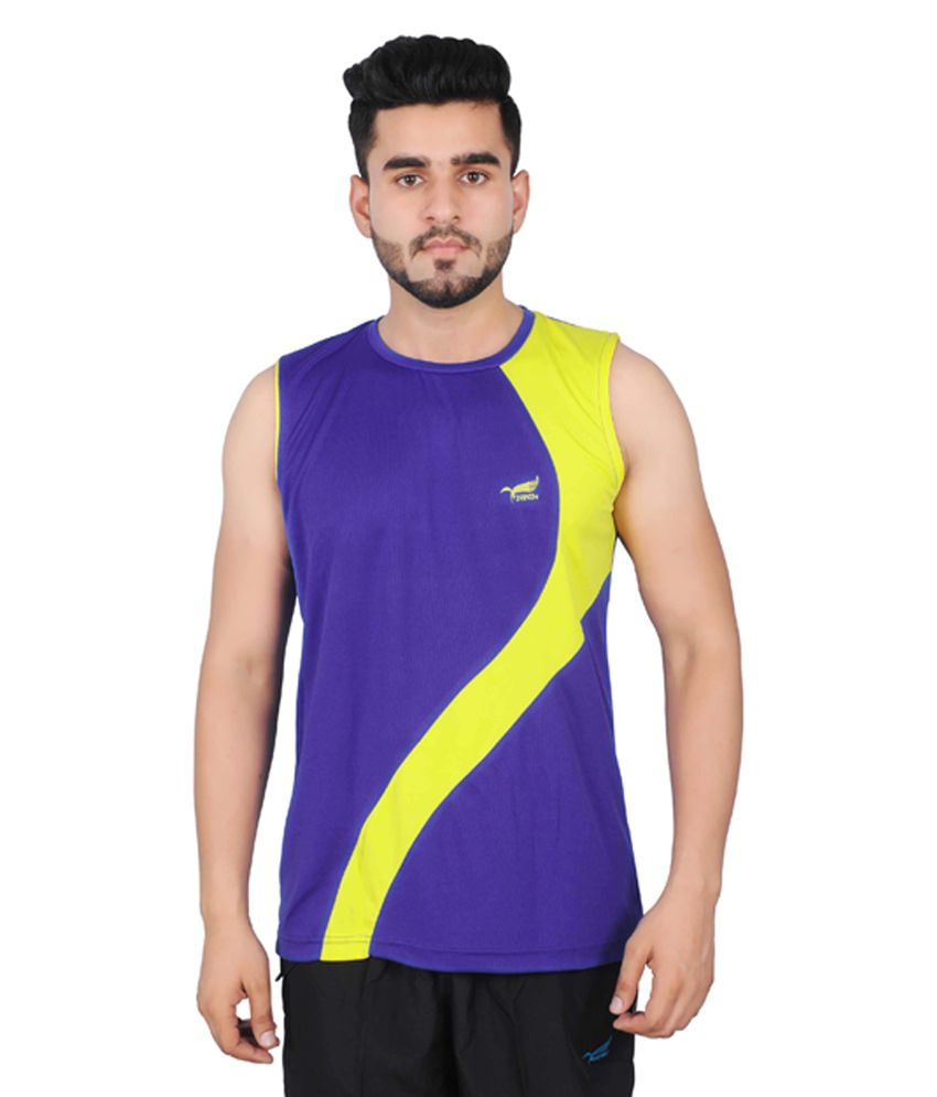 NNN Purple Sleeveless Dry Fit Men's T-shirt