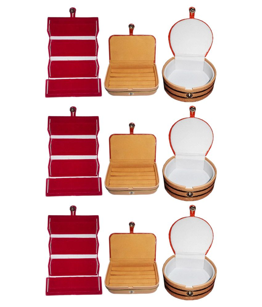 Abhinidi Combo Of 3 Ring Boxes, 3 Earring Boxes and 3 Bangle Boxes