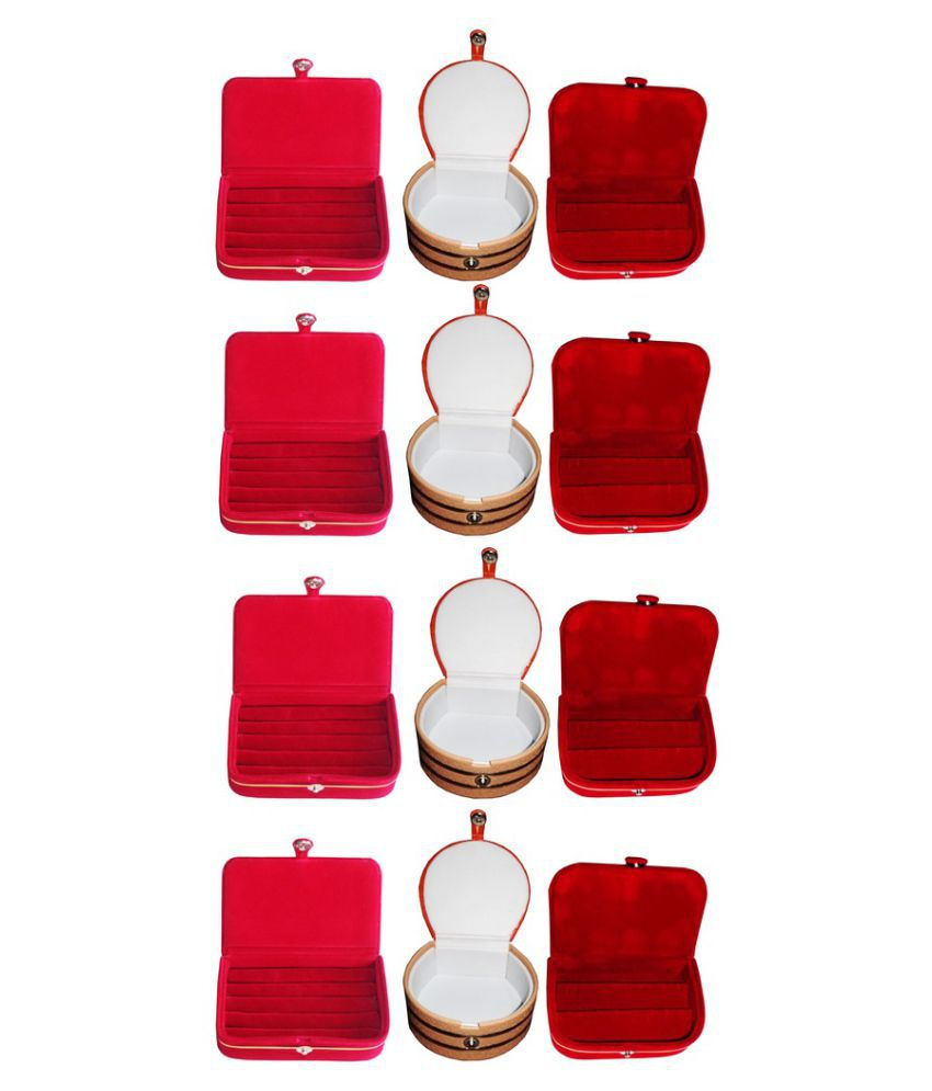 Abhinidi Combo of Four Multicolour Ring Boxes, Four Earrings Boxes and Four Bangle Boxes