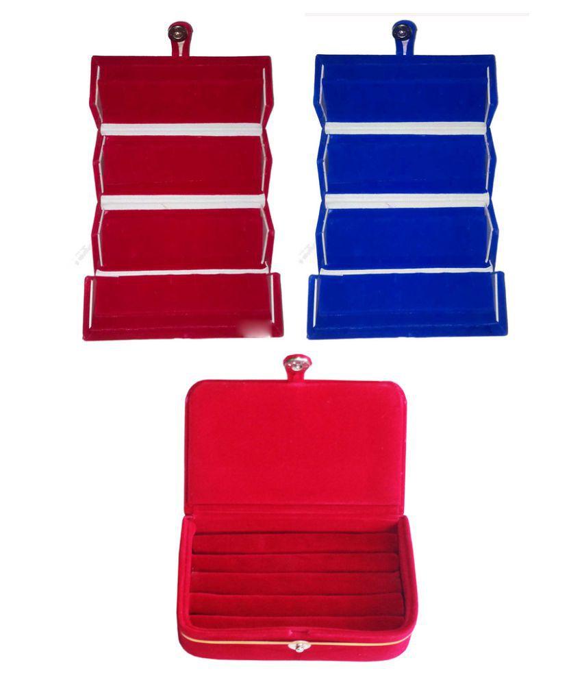 Abhinidi Multicolour 2 Earring Box with 1 Ring Box
