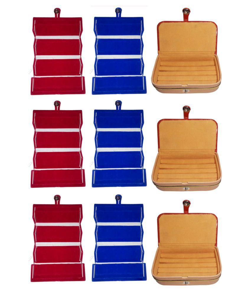 Abhinidi Multicolour 6 Earring Box with 3 Ring Box