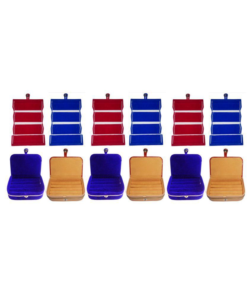 Abhinidi Multicolour 6 Earring Box with 6 Ring Box