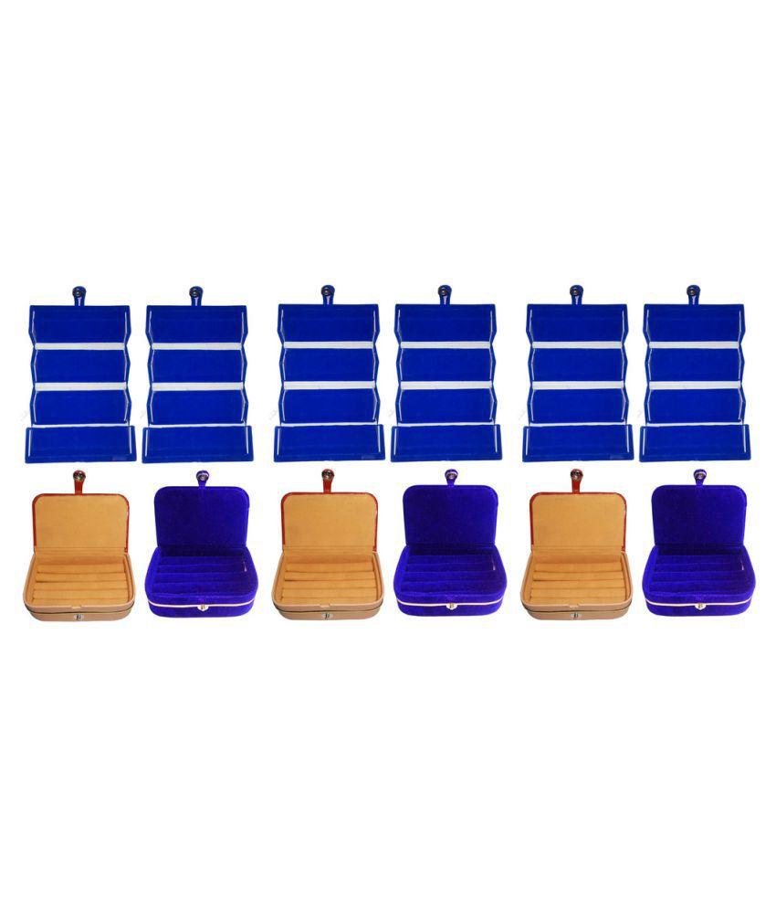Abhinidi Multicolour 9 Earring Box with 3 Ring Box