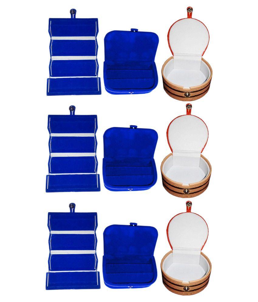 Abhinidi Multicolour Wooden Jewellary Boxes - Set of 9
