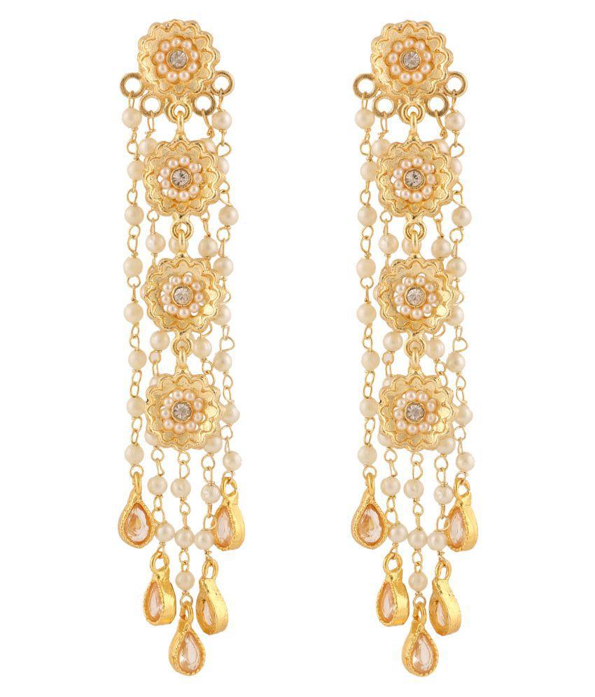 Beauti Art Golden Alloy Hanging Earring