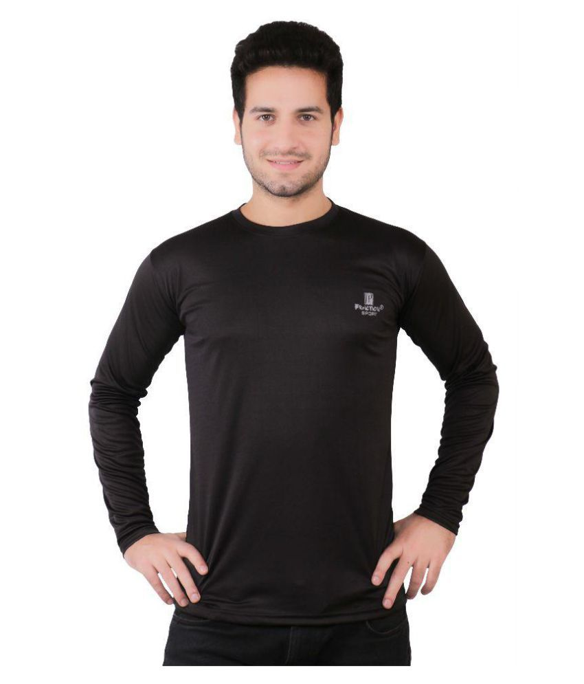 Friction Black Cotton Blend T-Shirt Single Pack