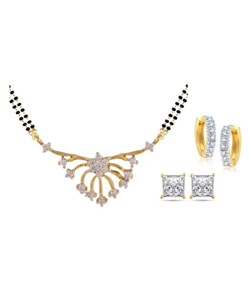 Parijaat Multicolour Mangalsutra with 2 Earrings