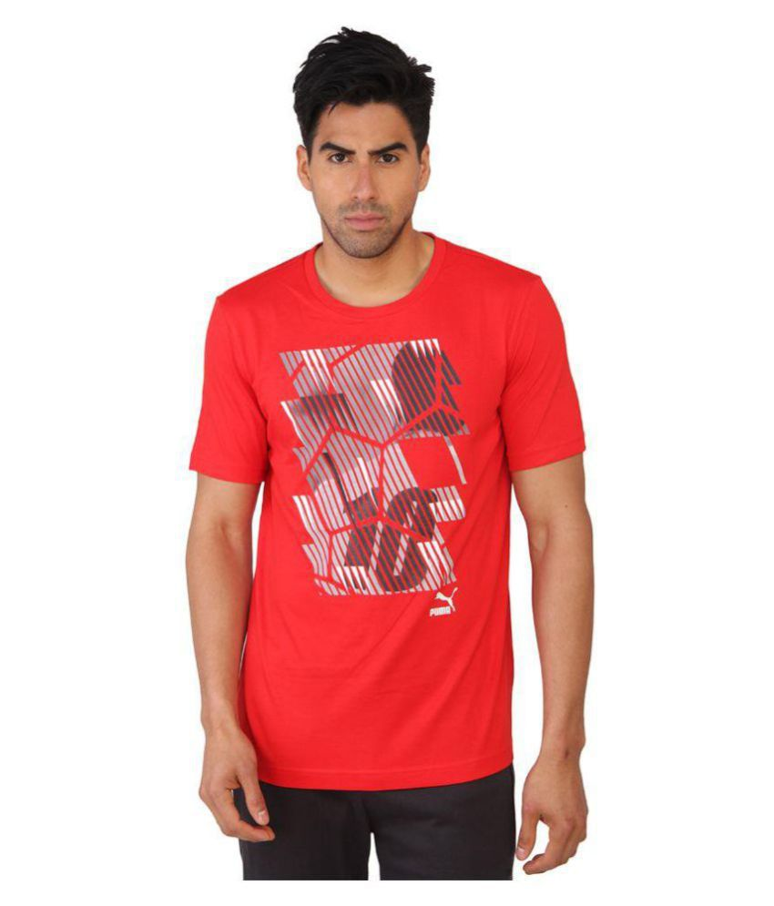 Puma Printed Red T-shirt