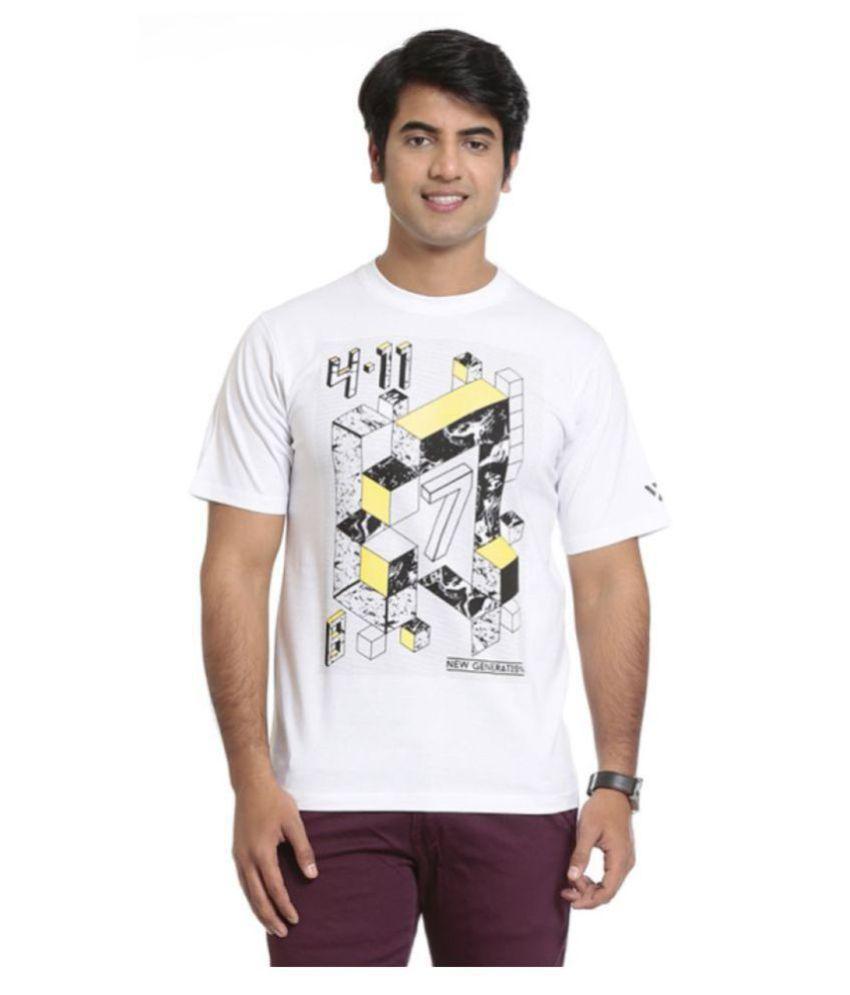 Seven White Polyester T-Shirt
