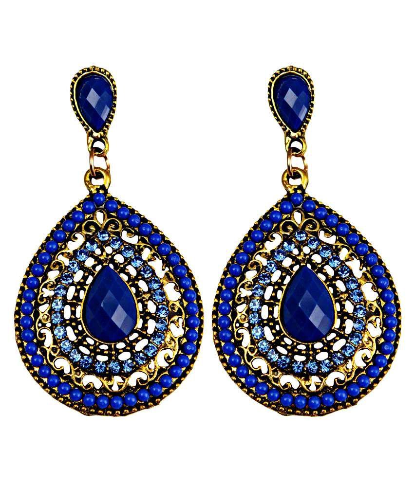 Taj Pearl Multicolour Hanging Earrings
