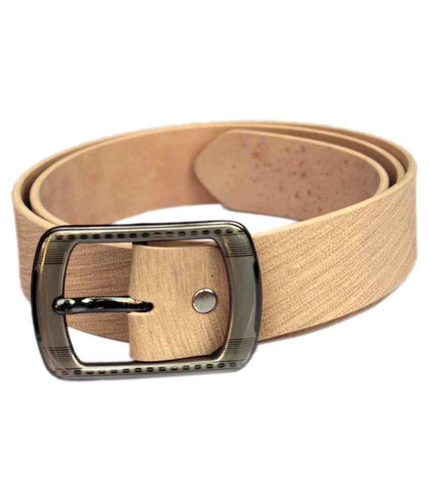 Bacchus Beige PU Formal Belts for Men