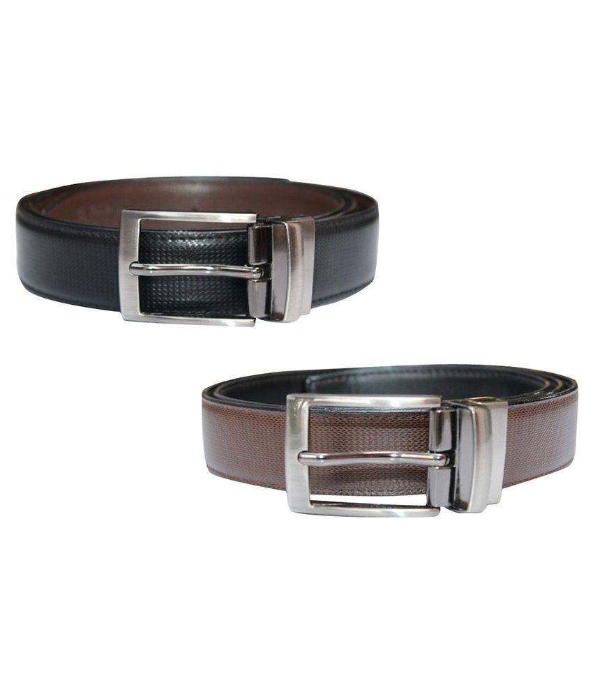 Bacchus Multi PU Formal Belts - Pack of 2