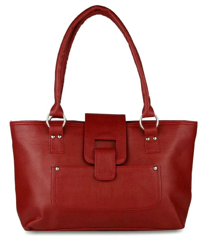 CG Maroon Canvas Shoulder Bag