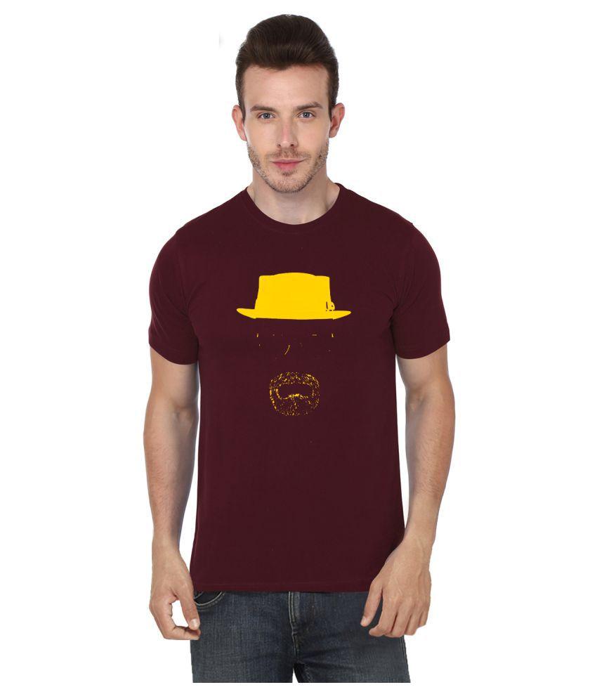S.ENT. Maroon Round T-Shirt