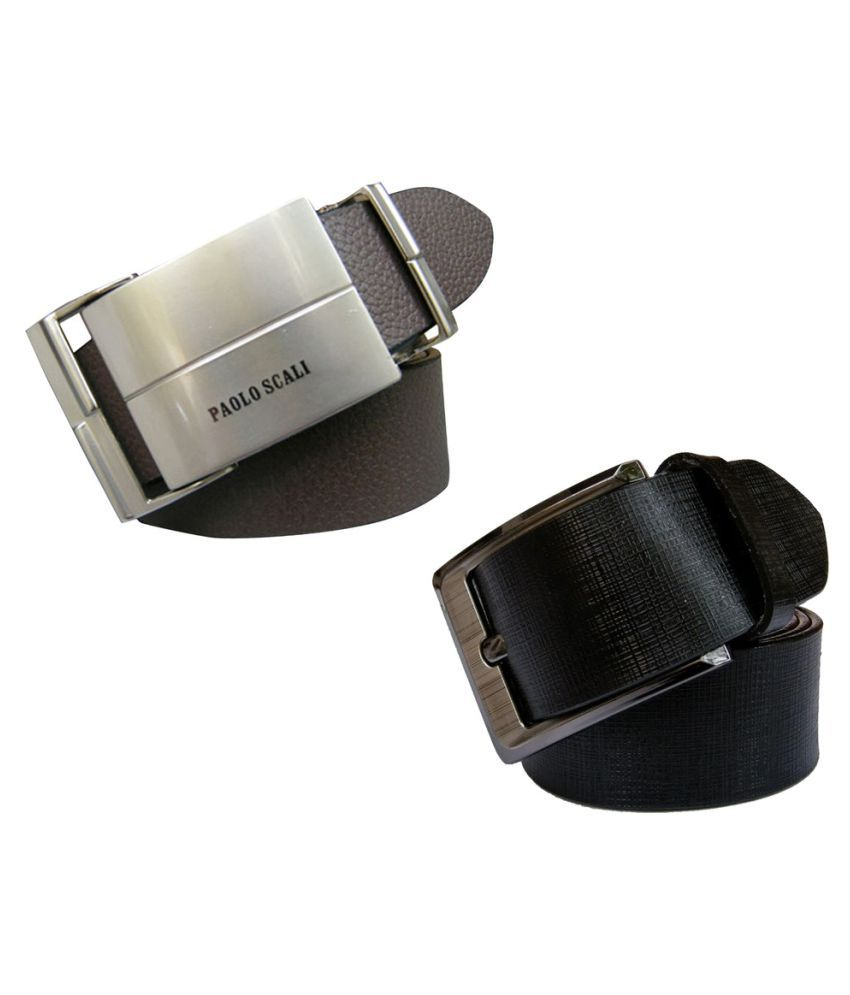 Bacchus Multi Leather Formal Belts - Pack of 2
