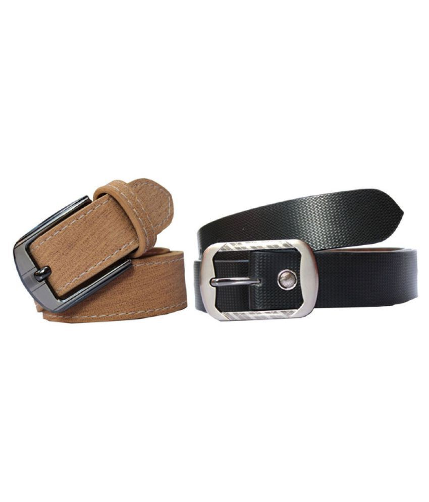 Bacchus Multi PU Formal Belts - Pack of 2