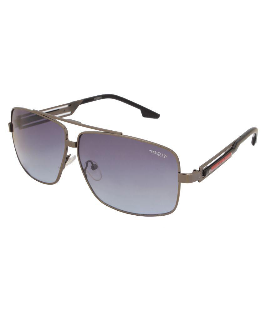 Tiger Eyewear Grey Rectangle Sunglasses ( CR-39 )