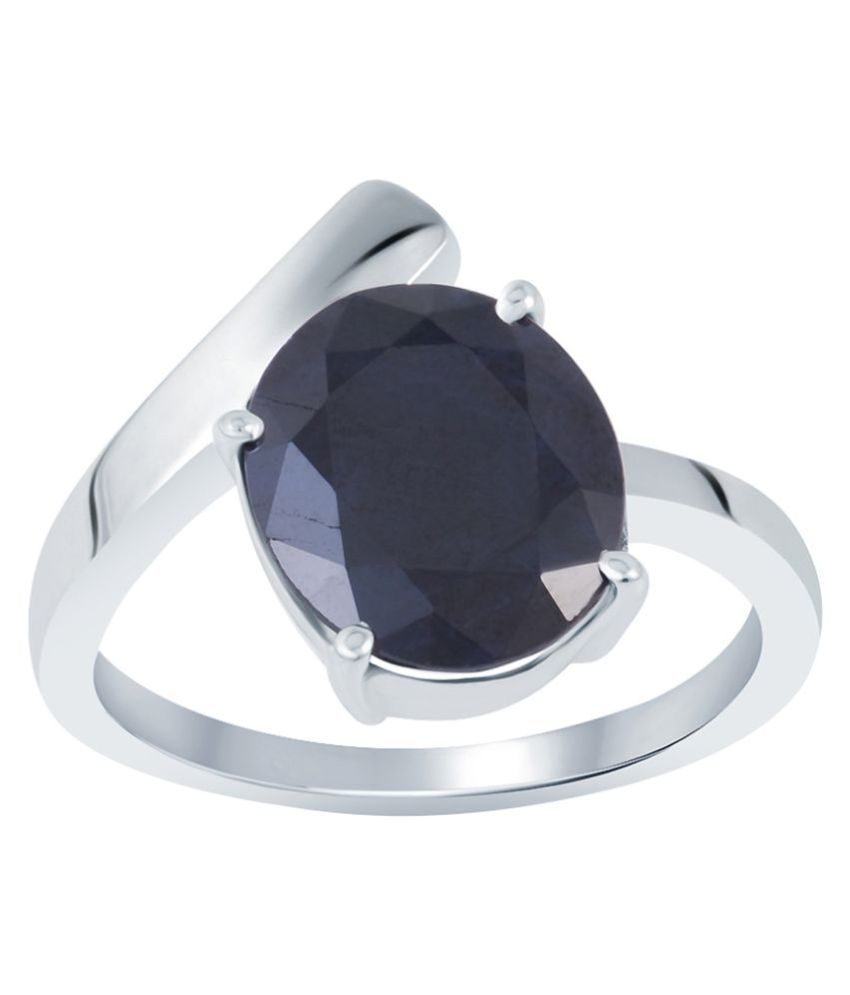 G-Luck 92.5 Silver Sapphire Ring